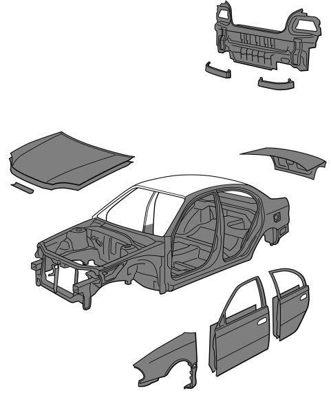 New Post Toyota Avensis 1996 2002 Repair Manual Collision Damaged Body Pz471 U0075 Ca Brm075 Body Panel Replacemen Toyota Avensis Repair Manuals Toyota
