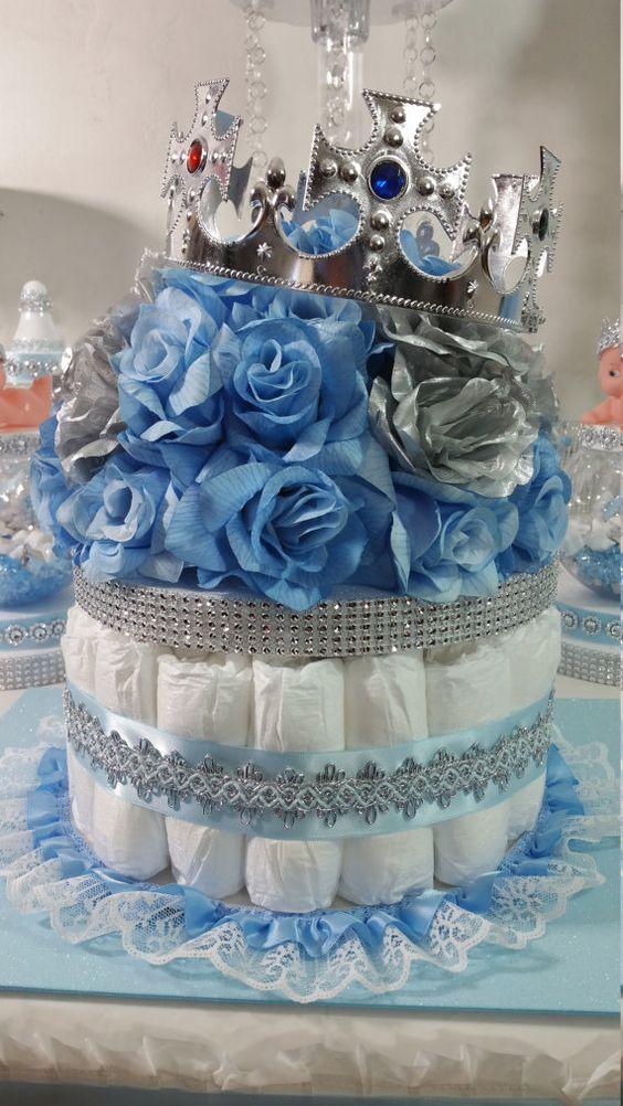DIAPER CAKE garçons pièce maîtresse avec la par PlatinumDiaperCakes