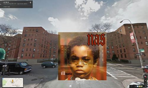 yasboogie:   Iconic Hip Hop Albums in Google Street View