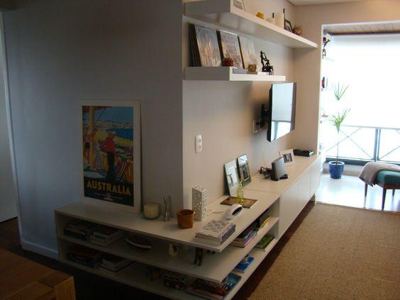 sala de estar integrada com a varanda