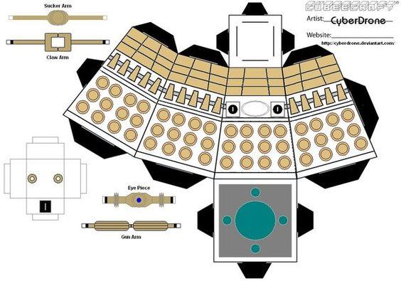 Make your own cardboard Dalek! <-- MAKING THIS. @Jen Yates