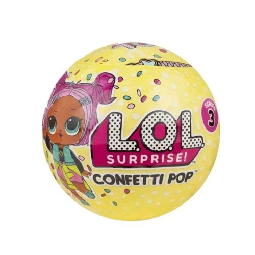 1pcs Lol Surpresa Confetti Pop Series 3 Wave 1 Unwrapping Toy 9cm
