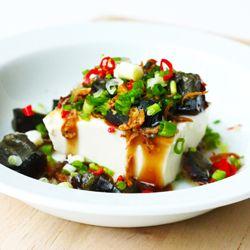 cold tofu with century eggs