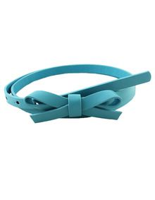 New coming PU leather thin candy color fashion women belt