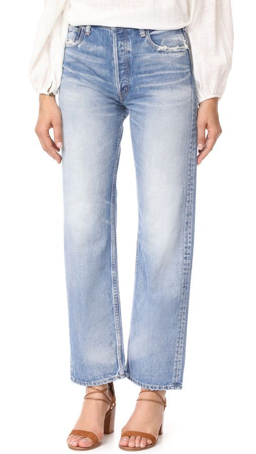 MOUSSY Vintage MV Fago High Rise Wide Straight Leg Denim Jeans Blue $415 #2000