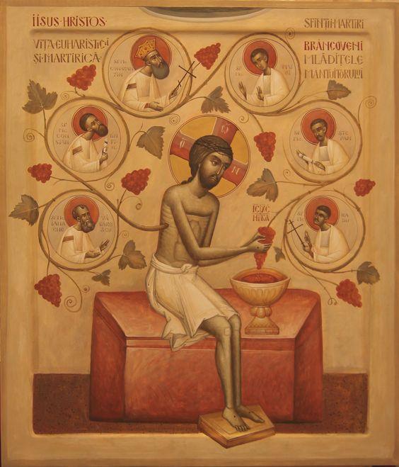 Jésus la Vigne avec saints martyrs