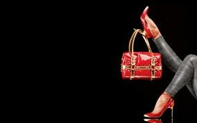 Strut your stuff, red heels and red matching bag