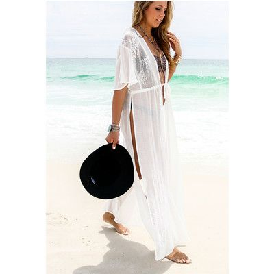 Fashion White Beach Cover-Up