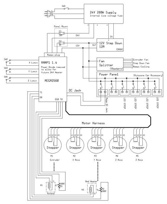 mendelmax wiring