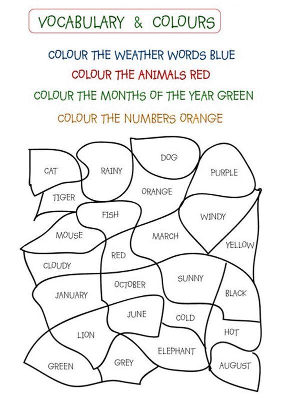 Number Names Worksheets preschool printables activities : Activities, Colors and Preschool on Pinterest