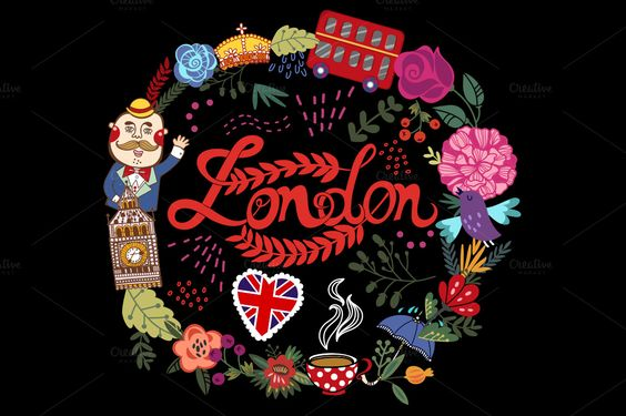 London set by marushabelle on Creative Market