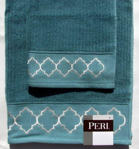 Cynthia Rowley Towel Set 2 Pieces Bath Towel and Hand Towel Dark Teal  Softly  Cynthia. Teal Hand Towels