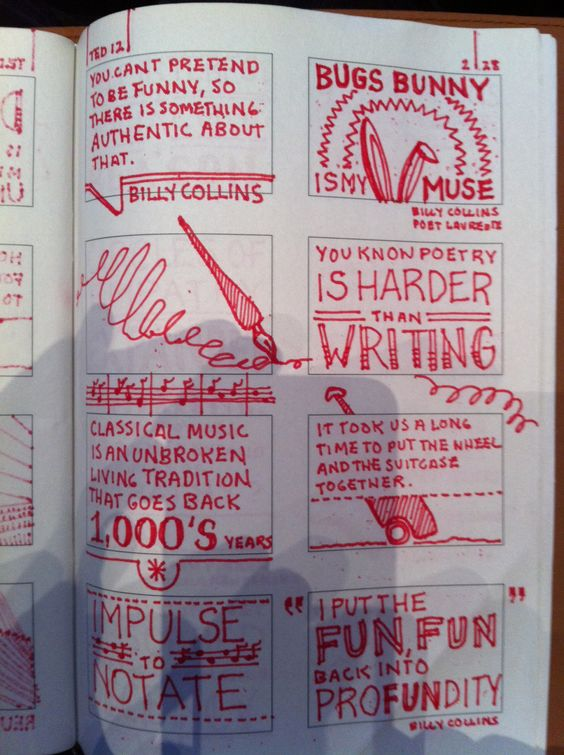 Appealing style of note taking.   graphic note taking from Robert Fabricant