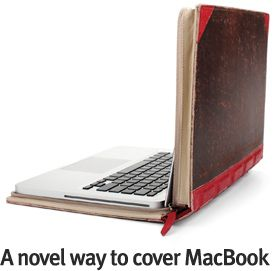 A novel way to cover MacBook.
