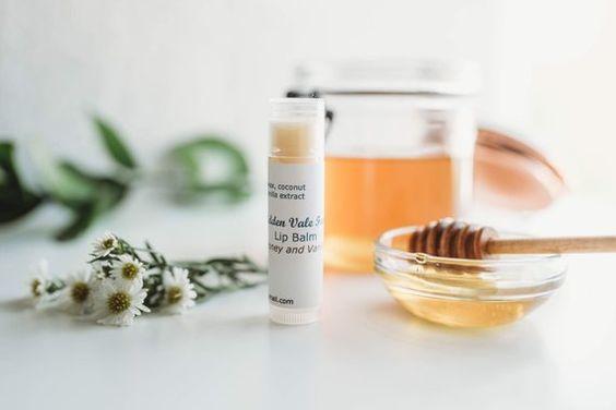 Honey Vanilla Lip Balms Beeswax Handmade All Natural Ingredients very  moisturizing