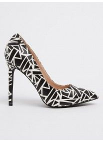 Miss Black | Susanna Printed Courts Black and White
