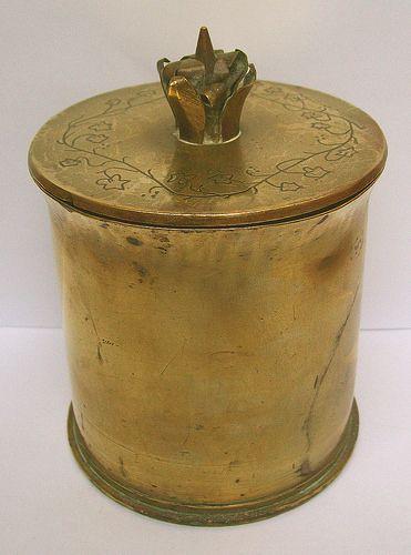 French 75 mm shellcase tobacco jar | Flickr - Photo Sharing!