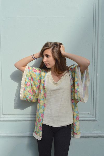Coudre un kimono à dentelle, c'est simple comme konichiwa ! Le patron et les explications en images | Filoute