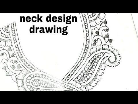 Youtube Draw Neck Design Butter Paper How To Draw Necklace Designs