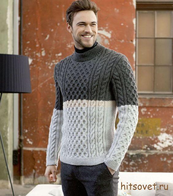 Вязание мужской свитер фото 91