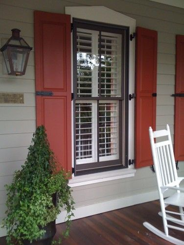 Red Shutters Will Have And House On Pinterest