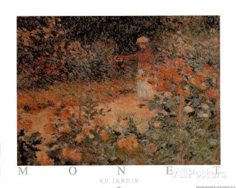 monet paintings au jardin   Au Jardin Mini-Poster