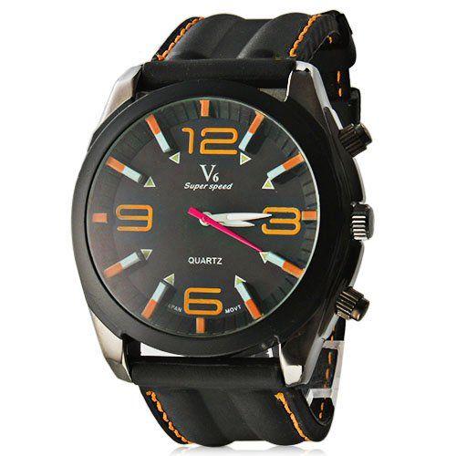 Herrenuhr Armbanduhr Kleid Mode Silikonband Orange - http://geschirrkaufen.online/mitb/herrenuhr-armbanduhr-kleid-mode-silikonband