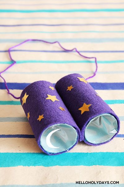 Get ready to sight the moon for #Ramadan and #Eid with these fun moon sighting binoculars kids can help put together!