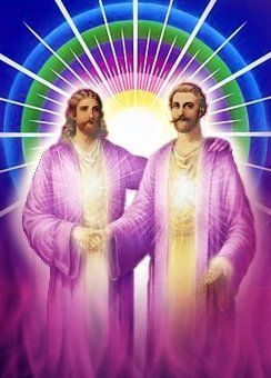 Jesus introduces Saint Germain as he passes the scepter to the Hierarch of the Aquarian age. Now Jesus has a New Office of service as World Teacher with Kuthumi