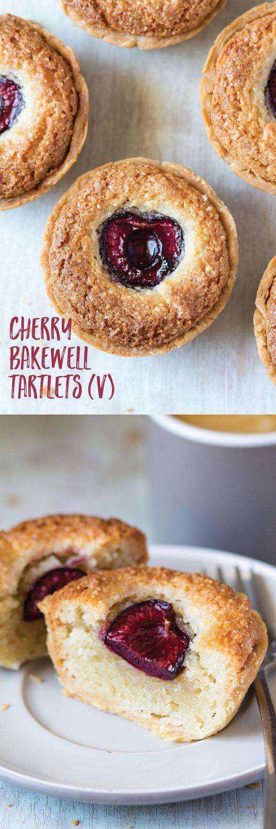 Vegan cherry bakewell tartlets