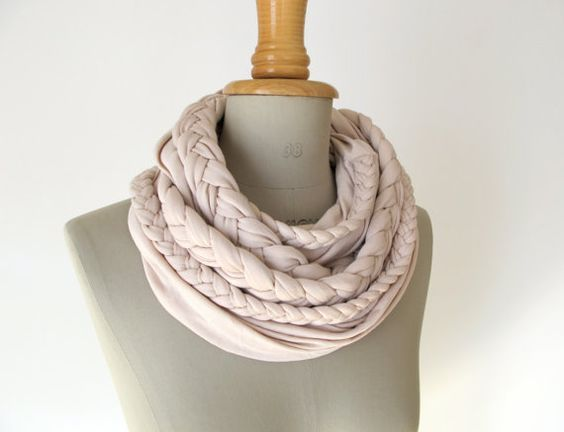 braided loop jersey rose