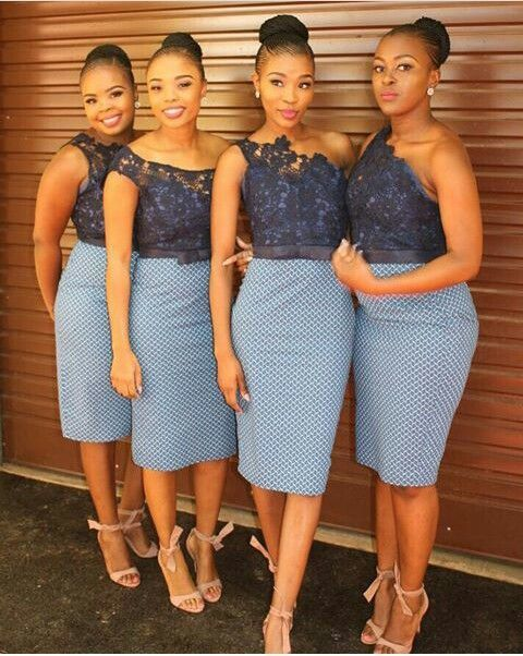 Short African Bridesmaid Dresses Knee Length Maid Of African Bridesmaid Dresses African Traditional Dresses African Bridesmaids,Maxi Dress For Wedding Guest With Sleeves