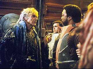 Khan confronts Captain Terrell and Commander Chekov in Star Trek II: The Wrath of Khan.  Ricardo Montalban is awesome in this scene as Khan.