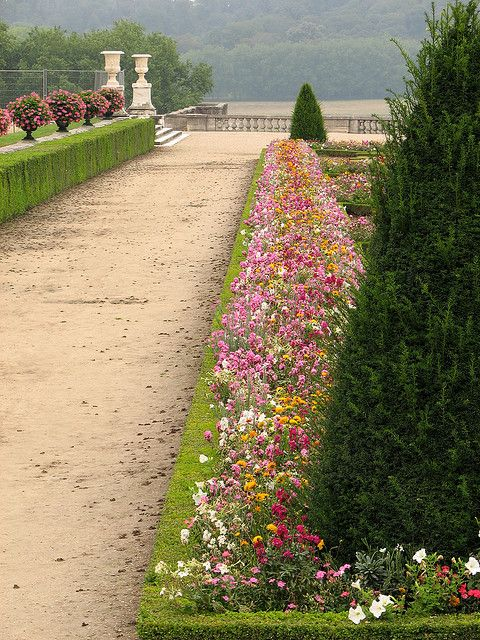 The gardens of Versailles Palace in France: