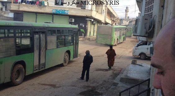 بدء دخول الحافلات لكفريا والفوعة..وأهالي شرق حلب بانتظار الإجلاء