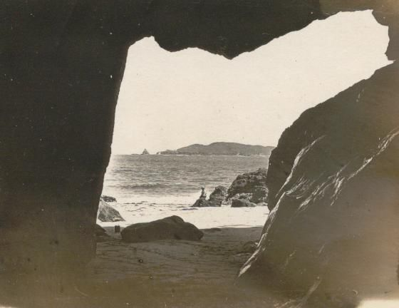 Louis H. Hyde - View of Abby rock from a cave in South Keppel Island…