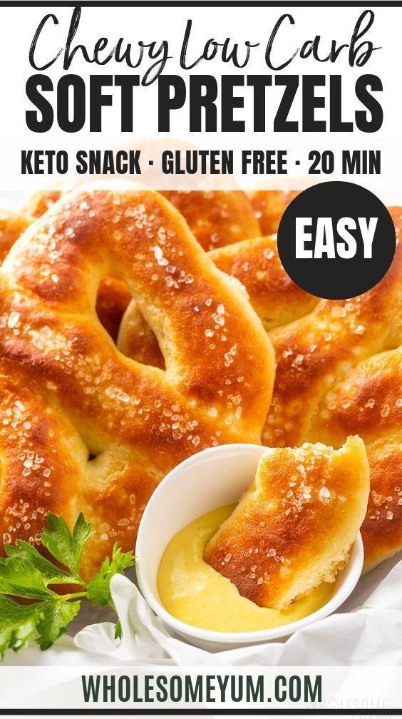 Low Carb Gluten-Free Keto Soft Pretzels Recipe | Wholesome Yum