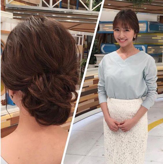 今日のグッディ衣装でパステルカラーのトップスに白レーススカートの三田友梨佳アナの画像