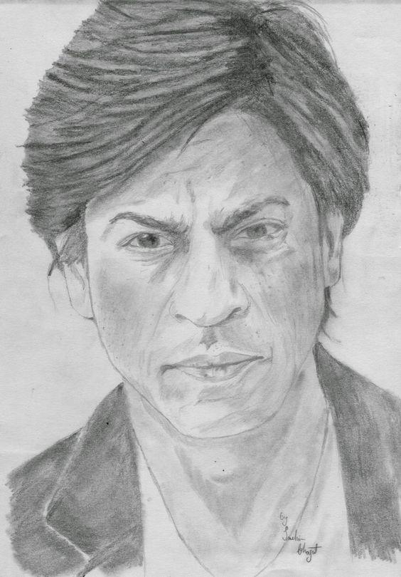 Sachin Bhagat Art: Shahrukh Khan Sketch
