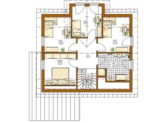 Innovation R (R140_1_V33) Grundriss Dachgeschoss