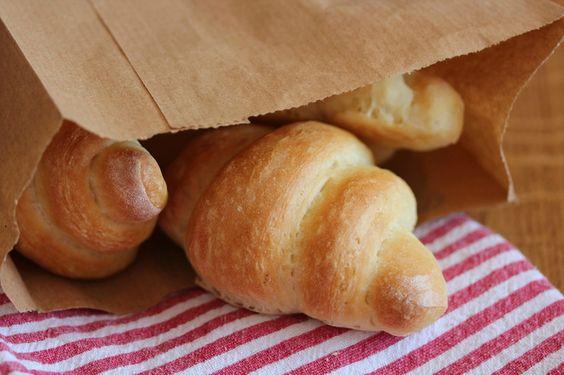 Croissants briochés au yaourt 0%.