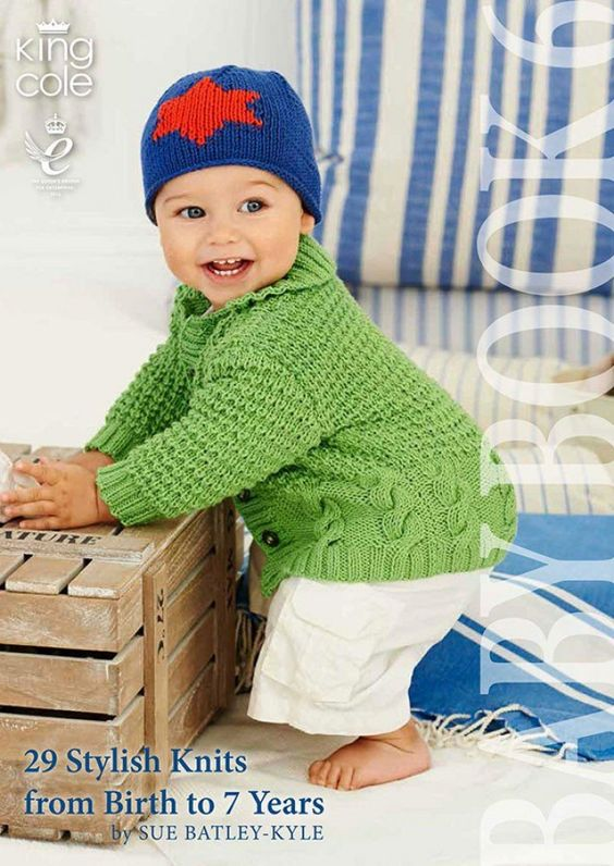 King Cole Knitting #Pattern #Book Baby Book 6 DK Just £9.99 On minervacrafts.com - http://bit.ly/1VVynlH