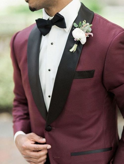 The Best Burgundy Wedding Suits And Tuxedos   Giorgenti
