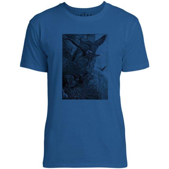 Mintage Eagle and Lamb Mens Fine Jersey T-Shirt (Royal)