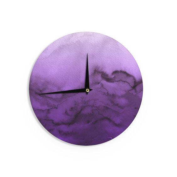 Kess InHouse Ebi Emporium 'Winter Waves 9' Abstract Wall Clock