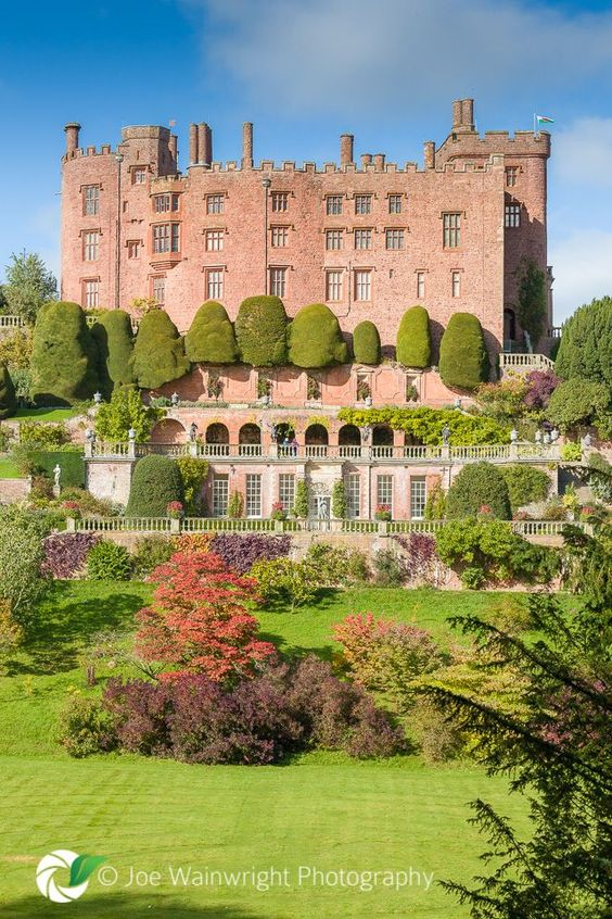 Powis Castle, Wales, United Kingdon ~ was built In the 13th century, as a Fortress for the Welsh Princes. Powis Castle Welshpool now boasts glorious terraced gardens constructed in the 17th century.