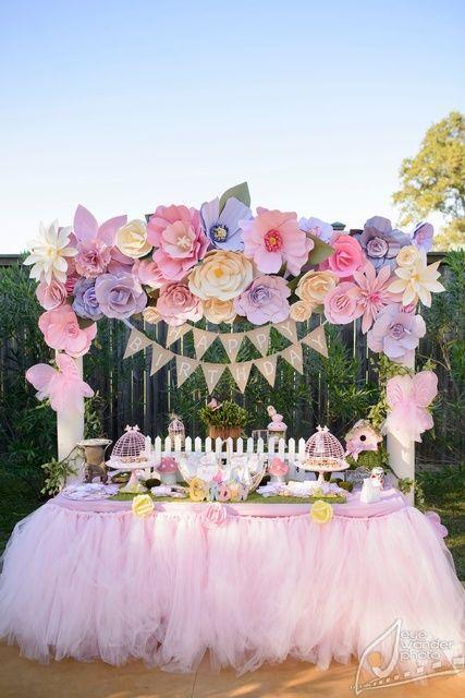 montando minha festa ideias de decorao com as flores gigantes de papel