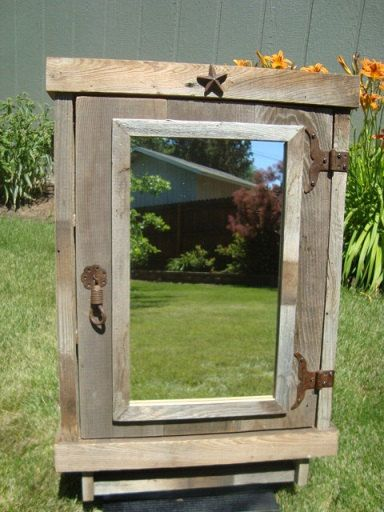 Reclaimed wood medicine cabinet rustic by for Reclaimed wood oregon
