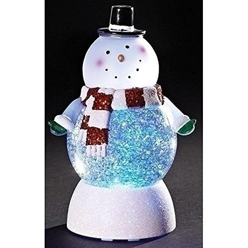 Snowman Swirl Dome Snowglobe With Color Changing Led Light Snow Globes Christmas Light Ornament Snowman Decorations