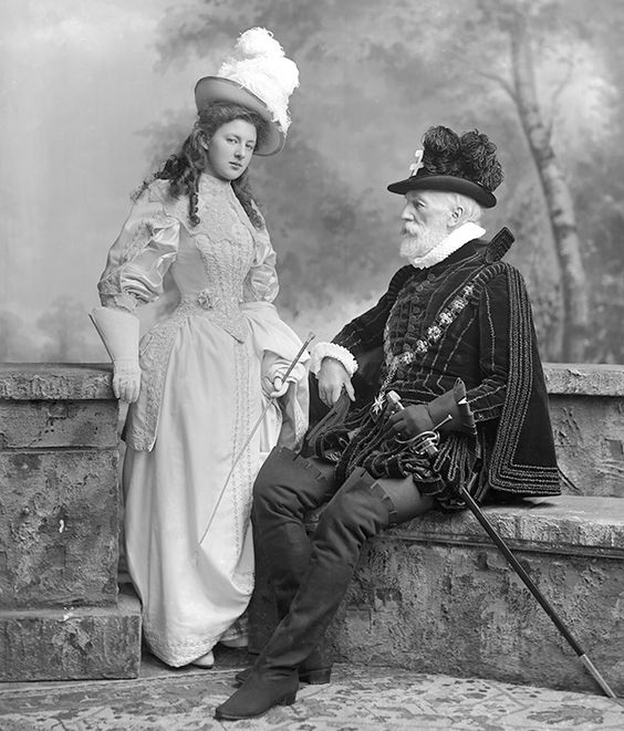 Devonshire House Ball, 1897, July 3, William Montagu Hay, 10th Marquess of Tweeddale as Count de St. Bris from Les Huguenots with Lady Susan Elizabeth Clementine Hay Waring (née Hay) as Valentine (St Bris' daughter)